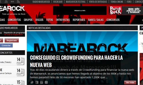 Terminada la Nueva Web de Marearock