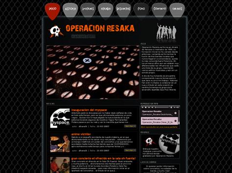 Web de Operación Resaka