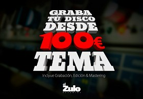Graba tu disco desde 100€ cada canción